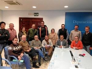 Participantes en la reunión de la Diputación en la que se ha alcanzado un principio de acuerdo.