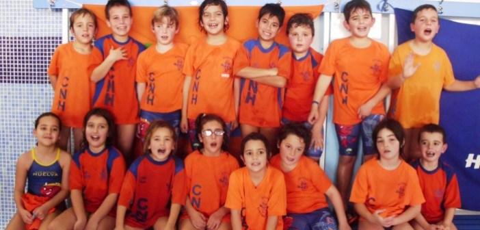 Jóvenes nadadores del Club Natación Huelva.