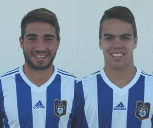 Chechu y Dani Molina, juveniles del Recreativo.