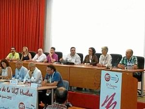 La nueva comisión ejecutiva de UGT en Huelva.