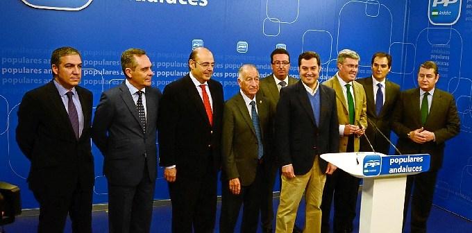 140212presidentes provinciales del PP apoyan al candidato
