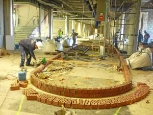 Obras Muelle Aqualon base del barco