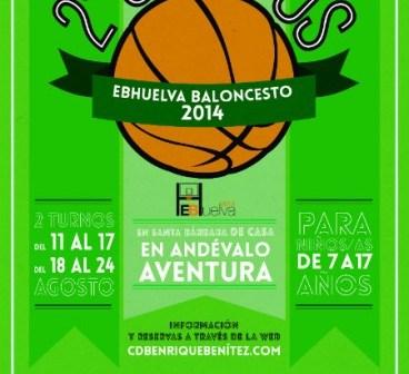 Cartel del Campus de Baloncsto del Enrique Benítez.