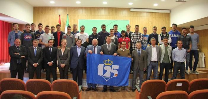 Recepción al Recreativo de Huelva por su 125 aniversario en la Junta de Andalucía.