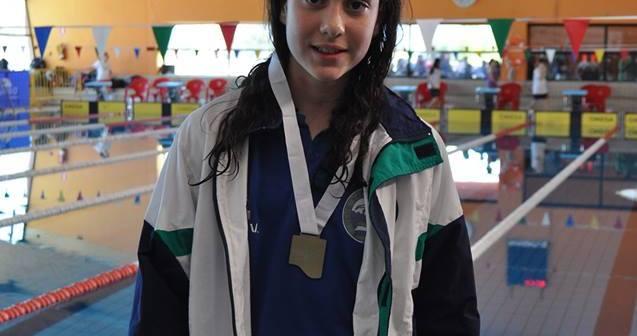 Alba Vázquez, nadadora del Club Natación Huelva.