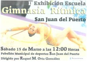 Exhibición de la Escuela de Gimnasia Rítmica de San Juan del Puerto.