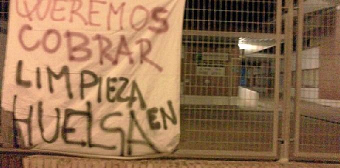 Cartel de protesta huelga Ayamonte limpieza