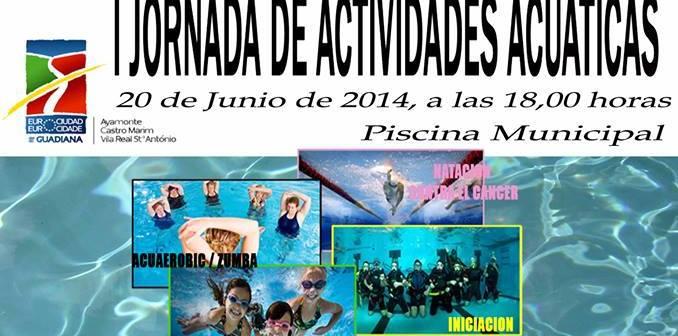 Cartel de las I Jornadas de Actividades Acuáticas Eurociudad del Guadiana.
