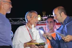 'Superpaco', uno de los homenajeados en la I Ultratrail Amanecer en Doñana.