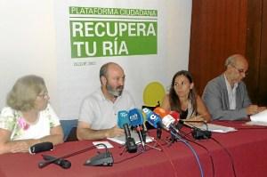 Manoli Boza, Pedro Jimenez, Noemi Sanchis y Gonzalo Prieto en Colegio Arquitectos de Huelva