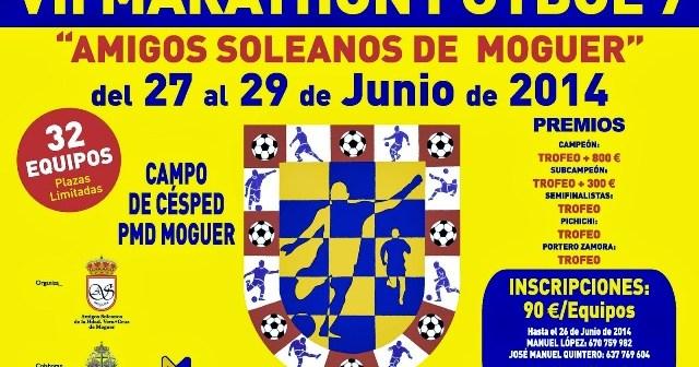 Cartel del VII Maratón de fútbol 7 en Moguer.