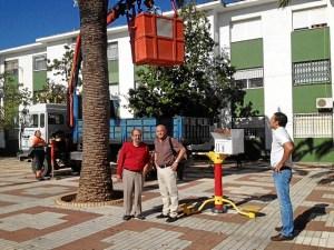 El delegado de Urbanismo, Domingo Payan ha estado supervisando el inicio de los trabajos
