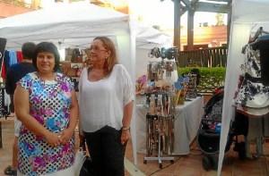 La Presidenta del Centro Comercial y la Presidenta de la Mancomunidad han visitado los ditintos stands que conforman esta feria