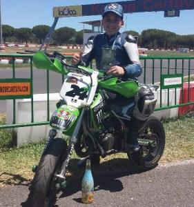 Raúl Pérez, joven piloto palmerino.