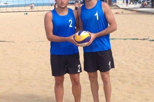 Juanmi González y Magín Fernández, jugadores de voliebol.
