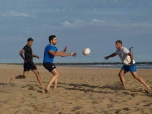 Rugby playa en Punta Umbría.