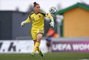 Sara Serrat, portera del Fundación Cajasol Sporting y de la Selección Española sub 19.