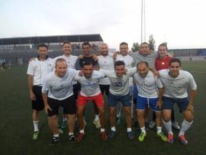 Equipo ganador del torneo de fútbol 7 en San Juan del Puerto.