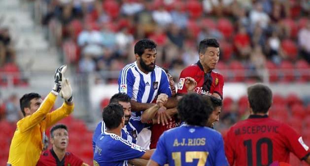 Menosse en el partido ante el Mallorca.
