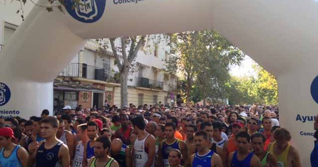 Salida de la Vuelta a Huelva 2013.