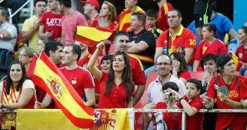 Aficionados de la Selección Española de fútbol.