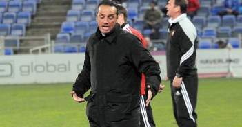 José Luis Oltra, técnico del Recreativo de Huelva. (Espínola)