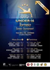 Cartel del torneo de fútbol sub 16 Eurociudad del Guadiana.