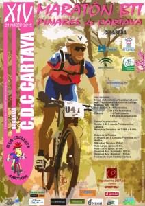 Cartel del Maratón de BTT de Cartaya.