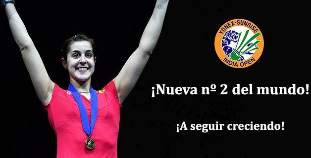 Carolina Marín sube el número 2 del mundo.