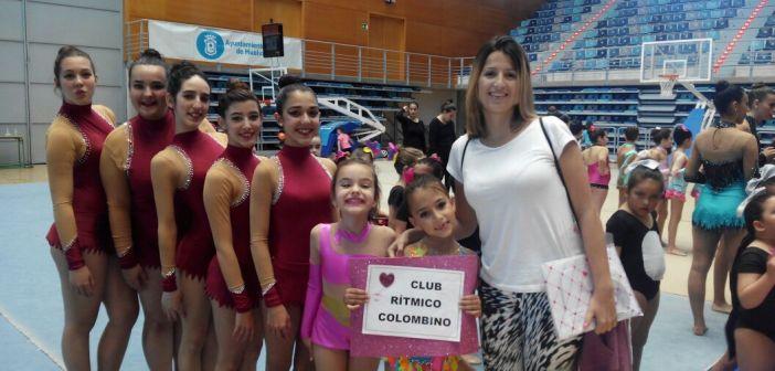 Gimnastas del Club Rítmico Colombino.