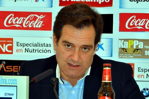 Antonio Martín, portavoz del Recreativo de Huelva.