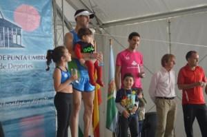 Adrián Andivia, vencedor de la Media Maratón de Punta Umbría.