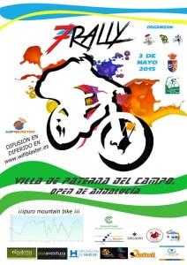 Cartel del VII Rally en BTT de Paterna del Campo.
