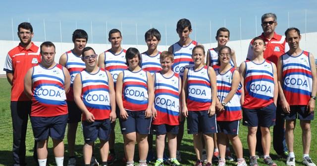 Equipo de atletismo del CODA.