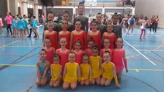 Gimnastas del Club Gimnasia Rítmica Huelva.