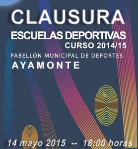 Cartel de clausura de las Escuelas Deportivas de Ayamonte.