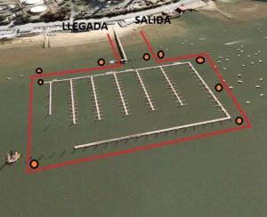 Travesía de natación en el Club Marítimo de Huelva.