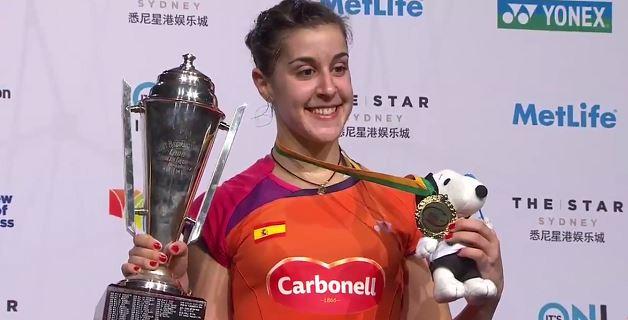 Carolina Marín, ganadora del Open de Australia.
