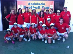 Voluntarios de la Andalucía Football Cup.