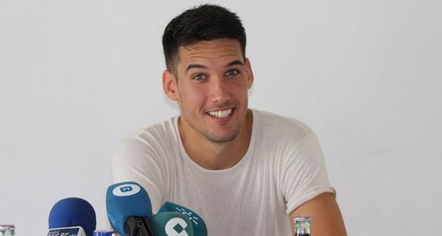 Ale Zambrano, jugador del Recreativo de Huelva.