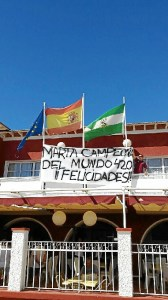 Deportes Vela Marta Garrido Pancarta Club