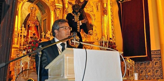 Francisco Gonzalez en un momento de su Pregon