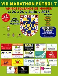 Cartel del Maratón de fútbol 7 en Moguer.