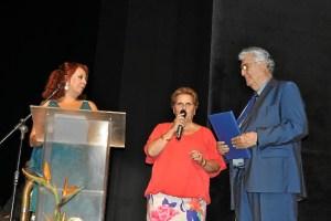 Antonia Grao dirige al publico unas palabras