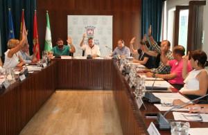 Imagen de archivo de un pleno en Cartaya.