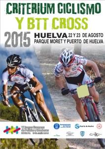 Cartel de pruebas de ciclismo en Huelva.
