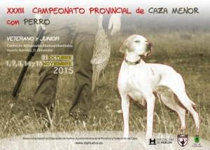 Cartel del Campeonato de Caza Menor con perro.