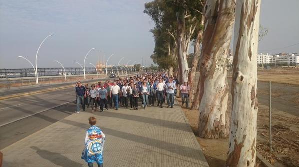 Marcha silenciosa del Recreativo de Huelva. (albiazules.es)