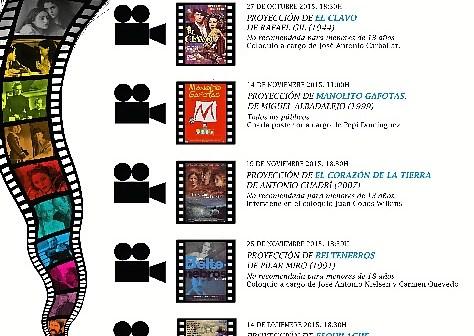Cartel cine y literatura huelva