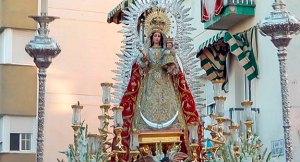 Imagen de la Virgen del Rosario de Isla Cristina